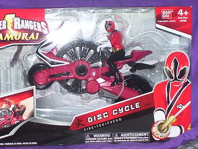 Power Rangers Samurai Red Fire DISC CYCLE with Power Rangers Figure
