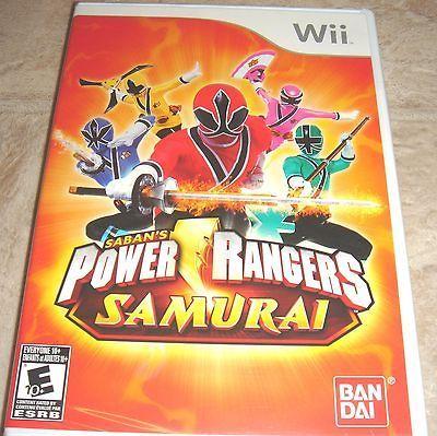 Power Rangers Samurai for Nintendo Wii Brand New, Factory Sealed