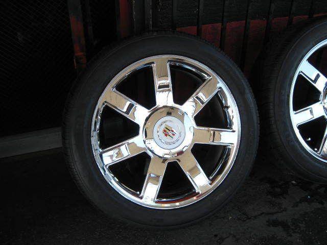Cadillac Escalade 2007 11 Chrome Wheels Rims Tires Tahoe Denali