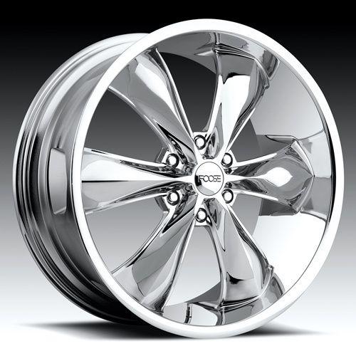 22 x9 5 FOOSE Legend 6 F137 Chrome 6 Lug Wheels Rims
