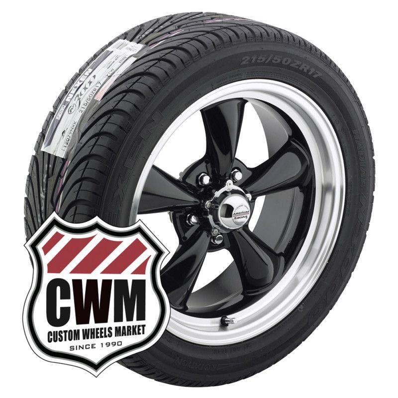 17x7 17x9 Black Wheels Rims Tires 215 50ZR17 275 40ZR17 for Ford