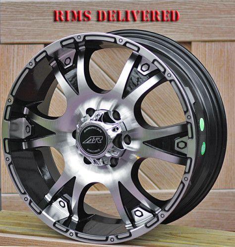 16 inch Black Wheels Rims AR889 Chevy GMC 1500 6 Lug