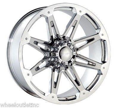 Chrome 8 Lug Wheels Rims 315 40 26 Fullway Tire Hummer H2 28 24