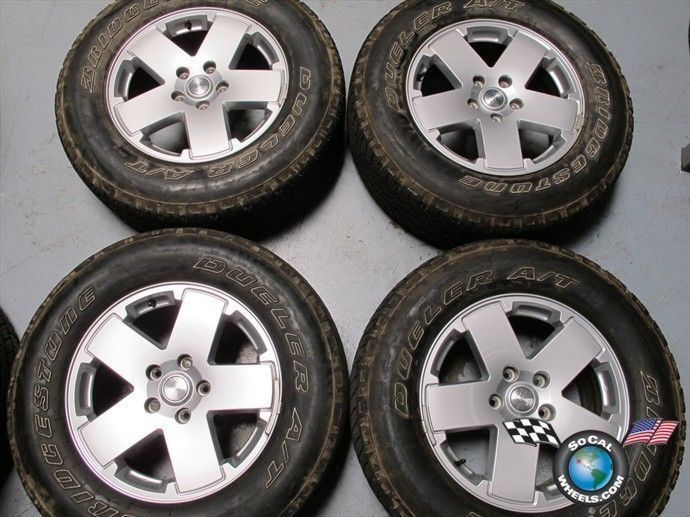 07 12 Jeep Wrangler Factory 18 Wheels Tires OEM Rims 1JC34TRMAA 9076