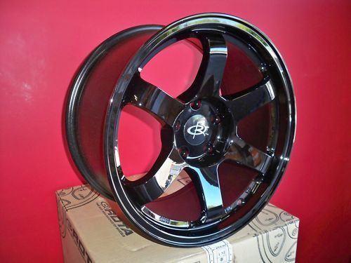 17 Rota Grid Yamaha Black Rims Wheels 17x9 25 5x114 3 EVO9 evo8 STI