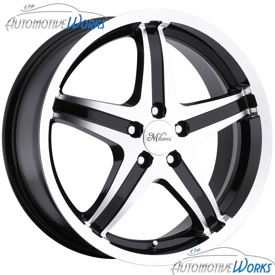 Whip 5 5x114 3 5x4 5 40mm Black Machined Wheels Rims inch 17