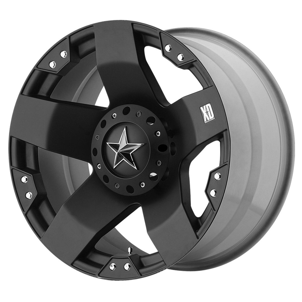 XD Series Rockstar XD775 Matte Black 6 lug Chevy Ford GMC wheels rim