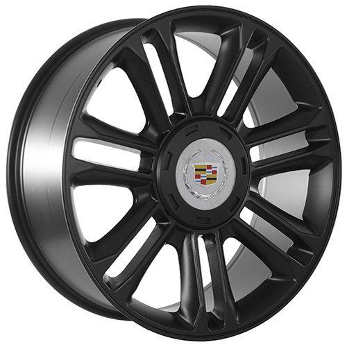 Cadillac 2012 ESV Escalade platinum edition matte black wheels rims