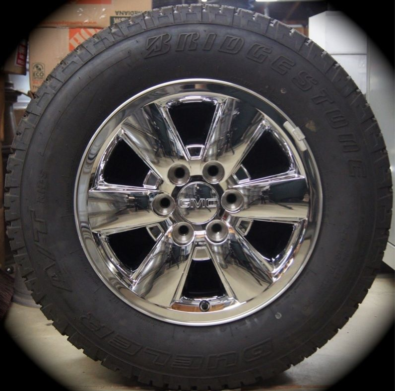 New GMC Sierra Yukon Chrome 18 Wheels Rims Tires Chevy Silverado