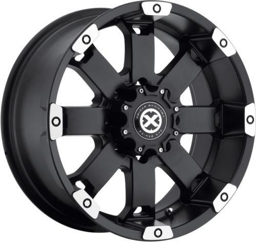 20 Black ATX Wheels Rims Dodge RAM Chevy Silverado GMC Sierra 2500