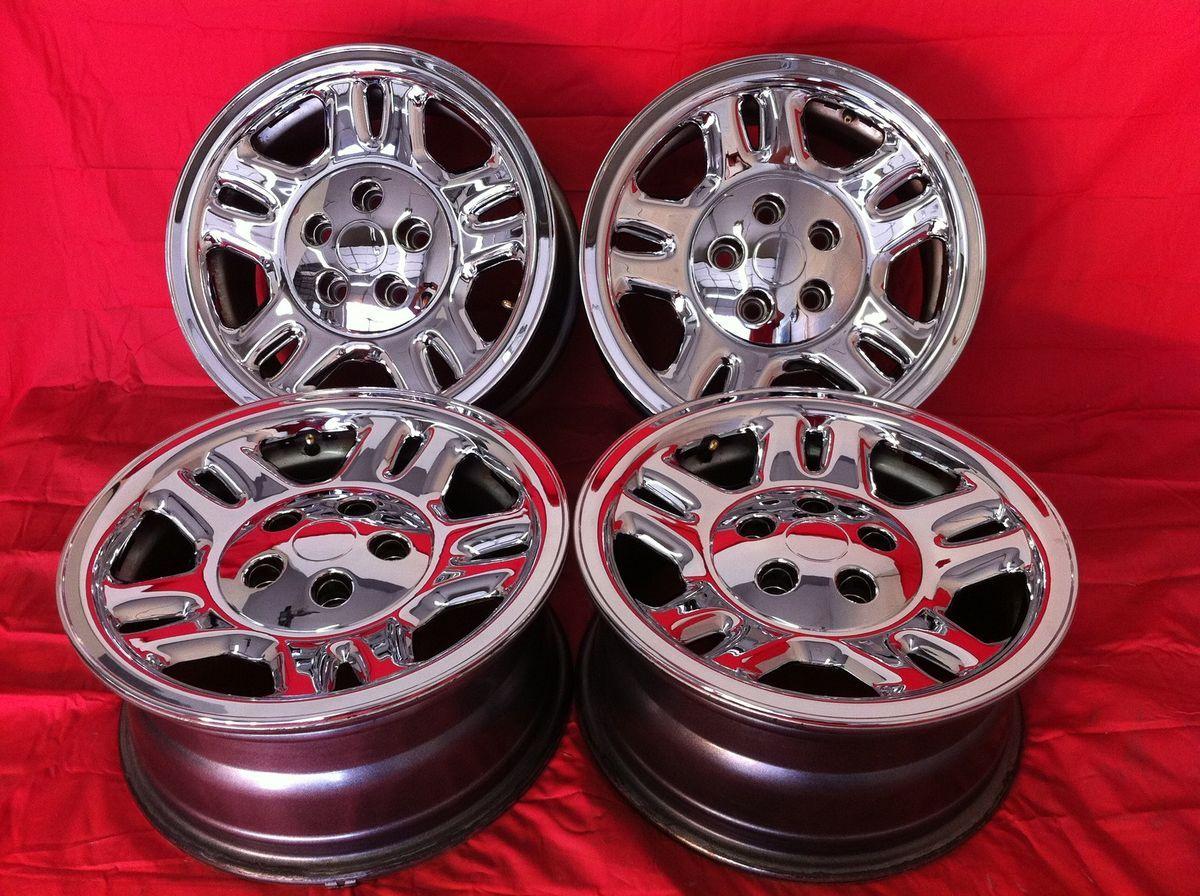 Dodge Nitro Stock Factory 16 Chrome Wheels Rims Caps Skins