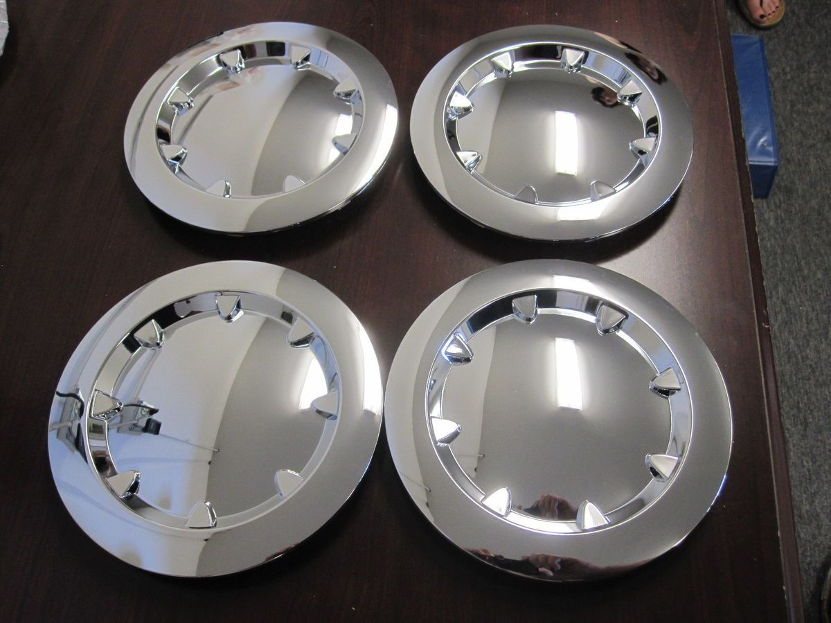 GMC Sierra Yukon XL 1500 Wheel Center Caps Hubcaps Set of 4 New Chrome