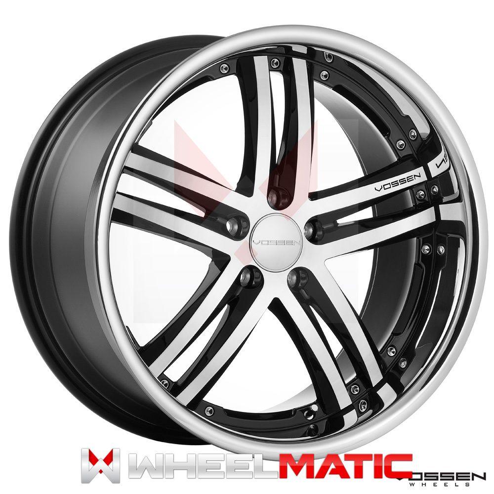 20 Vossen 85 20x9 10 5 5x112 32 42 Black Machined Wheels Rims