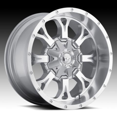 17x9 Krank XD 17 inch Chevy Ford Dodge Silver Wheels Rims Set