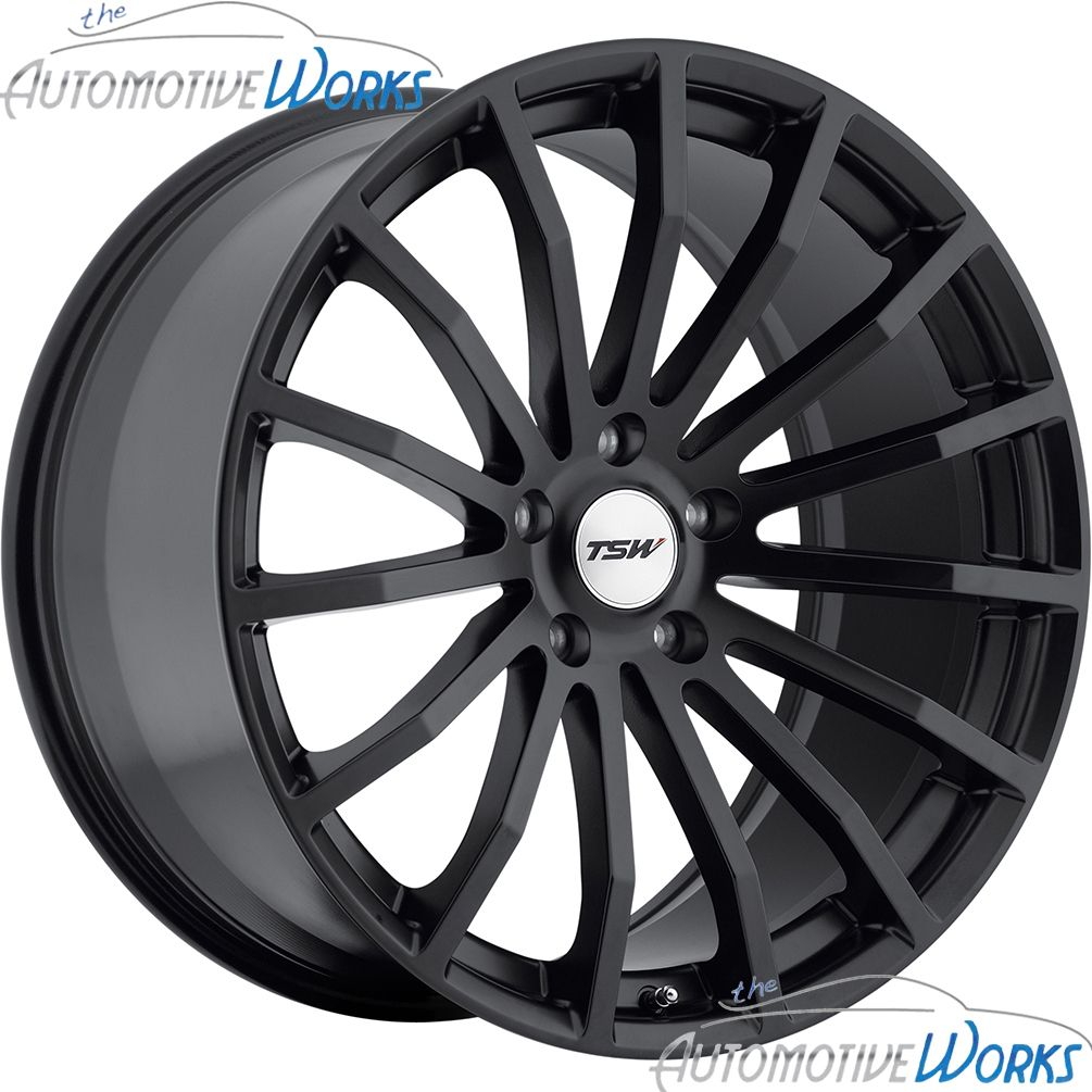 17x8 TSW Mallory 5x100 35mm Matte Black Rims Wheels inch 17