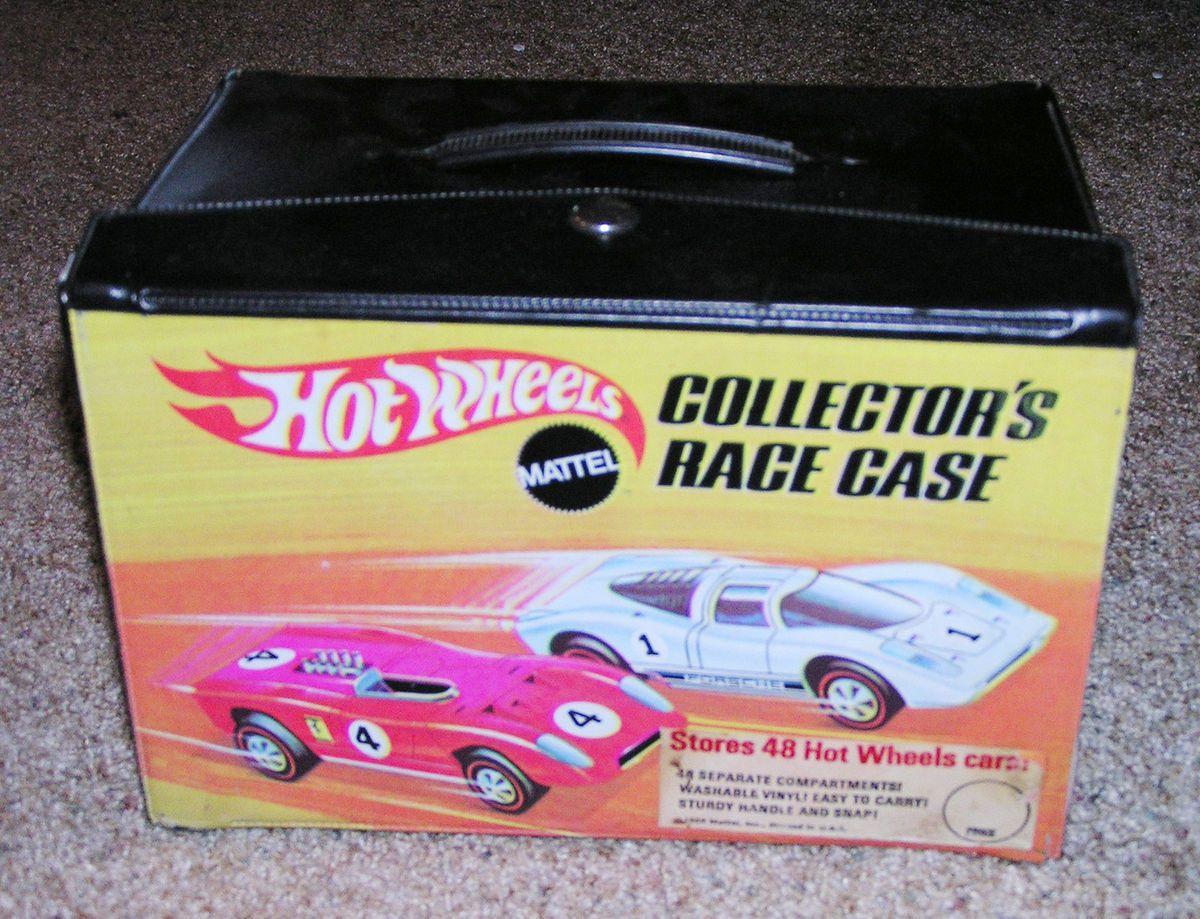Hot Wheels Redline 48 Car Carrying Case VINTAGE VINYL BRIGHT COLORS