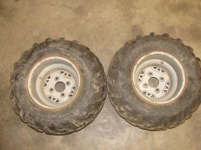 Trail Boss Trailboss 330 ATV Rear Wheels Rims Tires 22x11 10 07