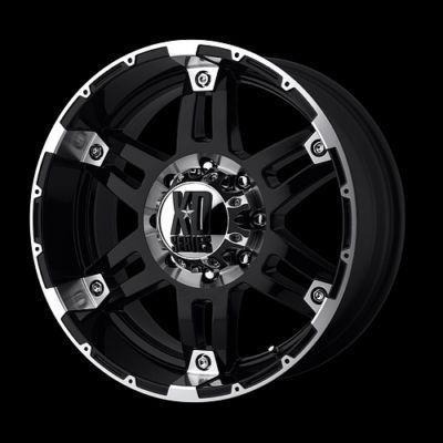 17 inch Black Wheels Rims 8 Lug Truck Chevy Dodge 2500
