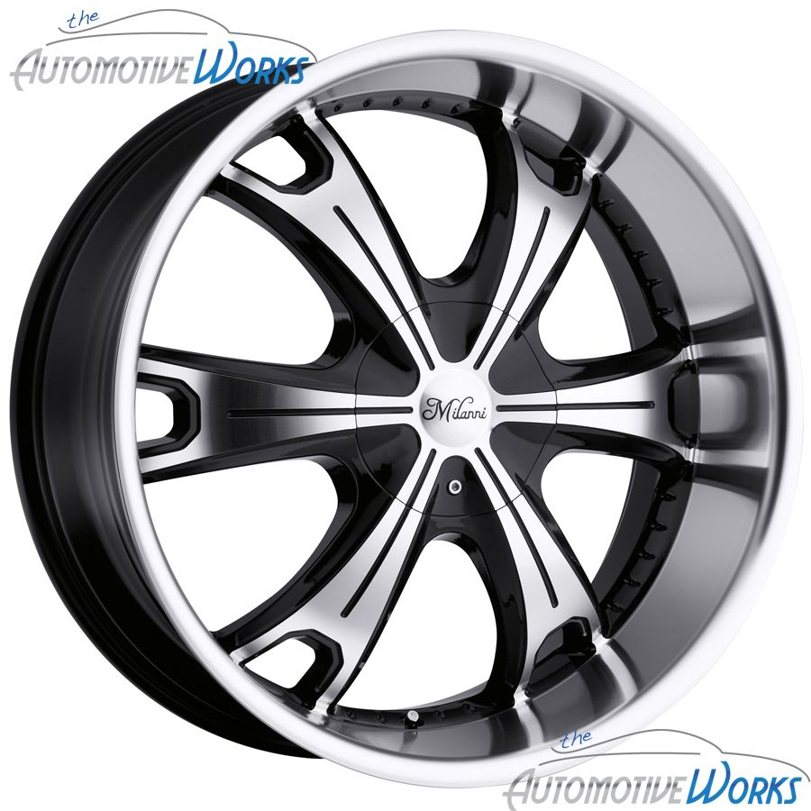 Stellar 5x127 5x5 5x135 16mm Black Machined Wheels Rims Inch 18