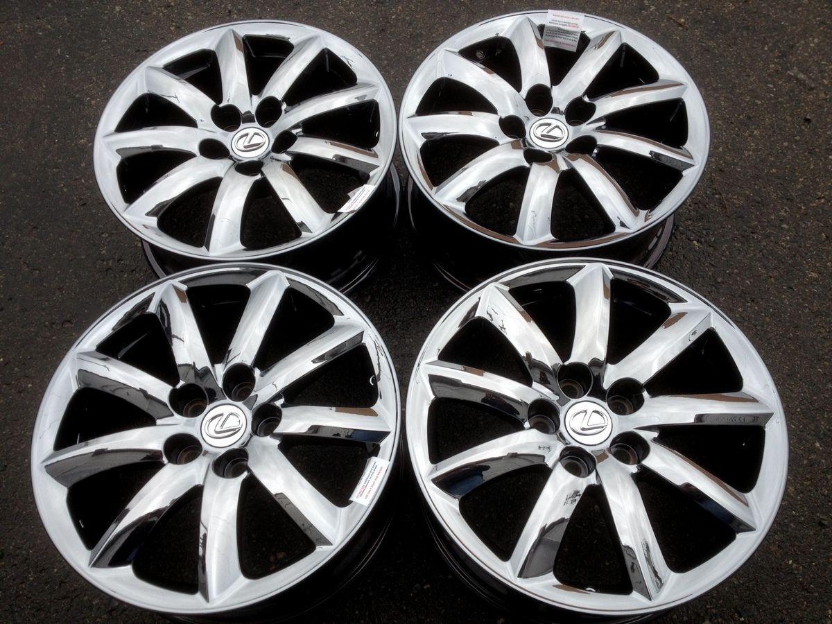 Lexus LS460 Black Chrome Wheels Rims 18x7 5 Factory