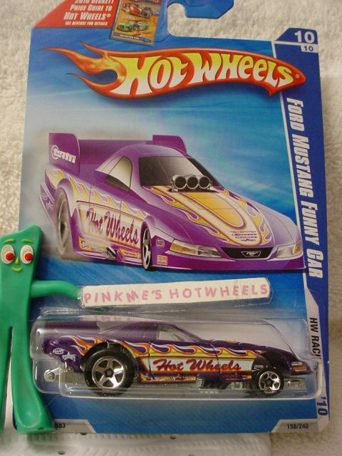 2010 Hot Wheels Ford Mustang Funny Car 158★PURPLE★BECK