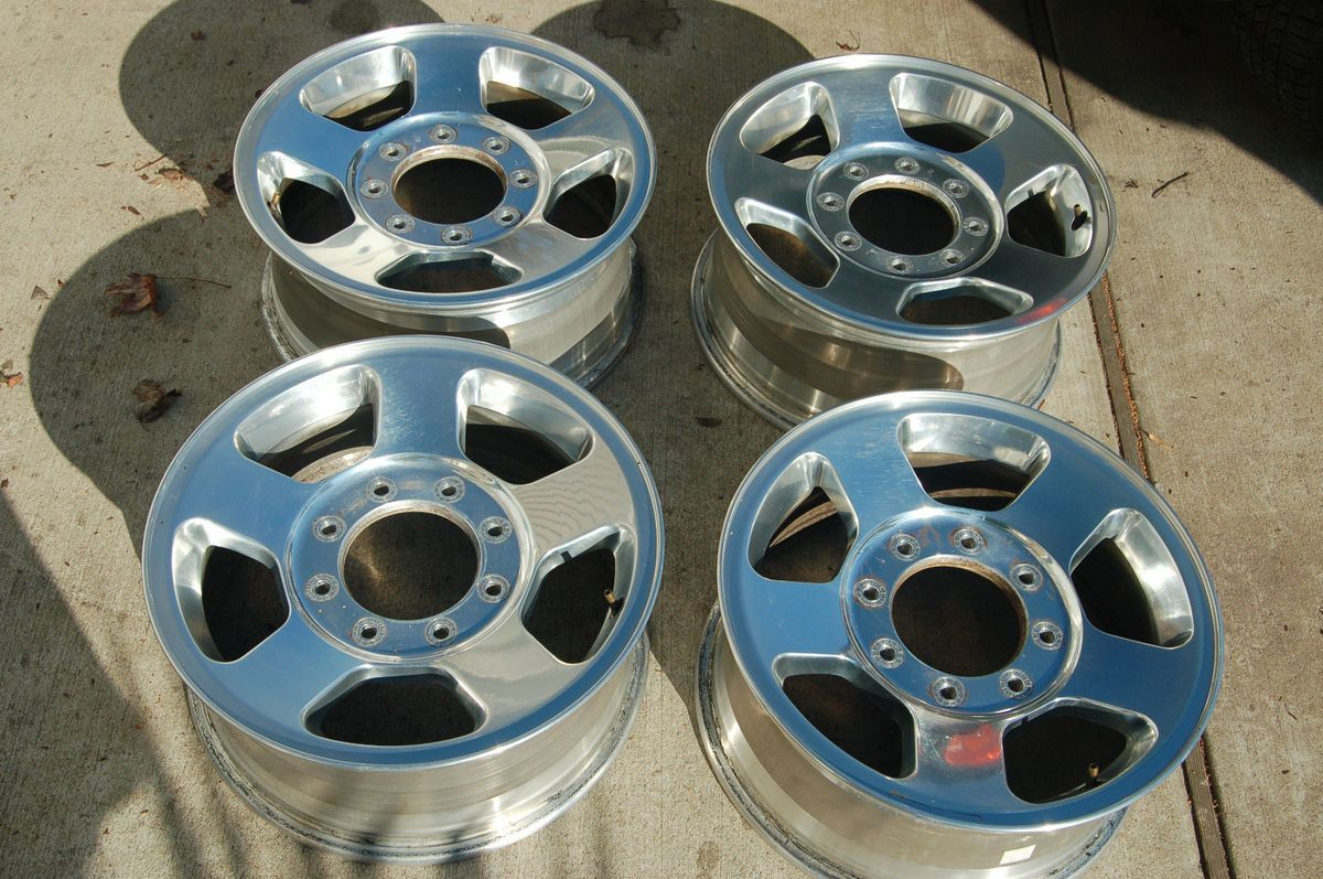 F250 F350 FACTORY 17 CHROME ALLOY WHEEL OEM RIMS Set of 4 f 250 f 350