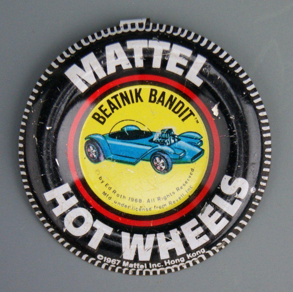 180 Original 1967 Hot Wheels Pin Badge for Beatnik Bandit Redline
