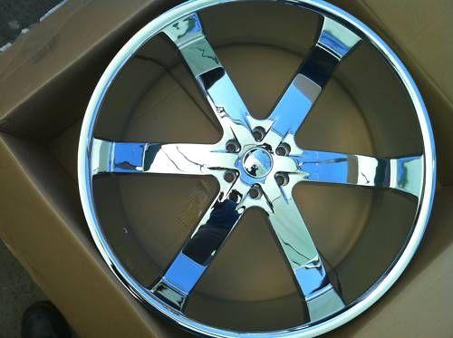 U2 55 Chrome Wheel Tires 6x139 Chevy GMC Titan Armada 305 40 22