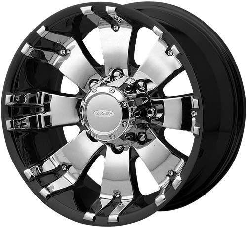18 inch DIAMO 8 Karat Black Wheels Rims 8x170 10 Ford F250 F350