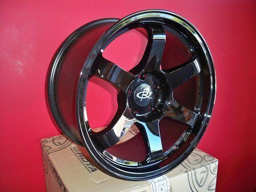17 Rota Grid Black Rims Wheels 17x9 25 5x114 3 EVO9 EVO 8 7 10 STI
