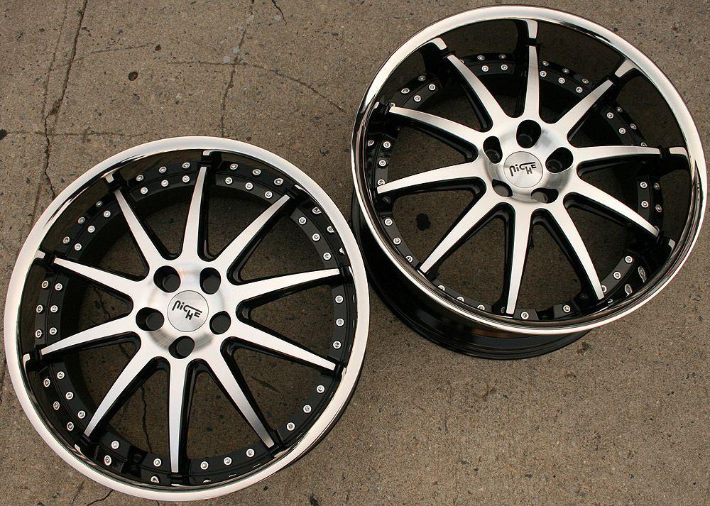 Niche Spa 22 Black Rims Wheels Nissan 370Z Staggered 22 x 9 0 10 5 5H